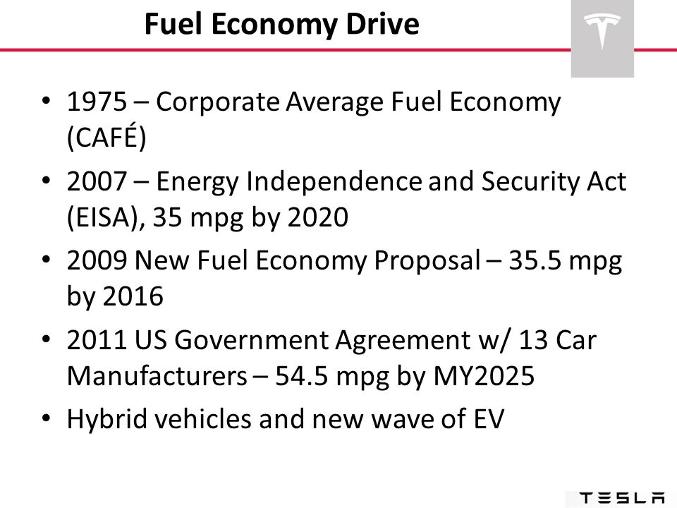 Fuel Economy Drive 1975 – Corporate Average Fuel Economy (CAFÉ)