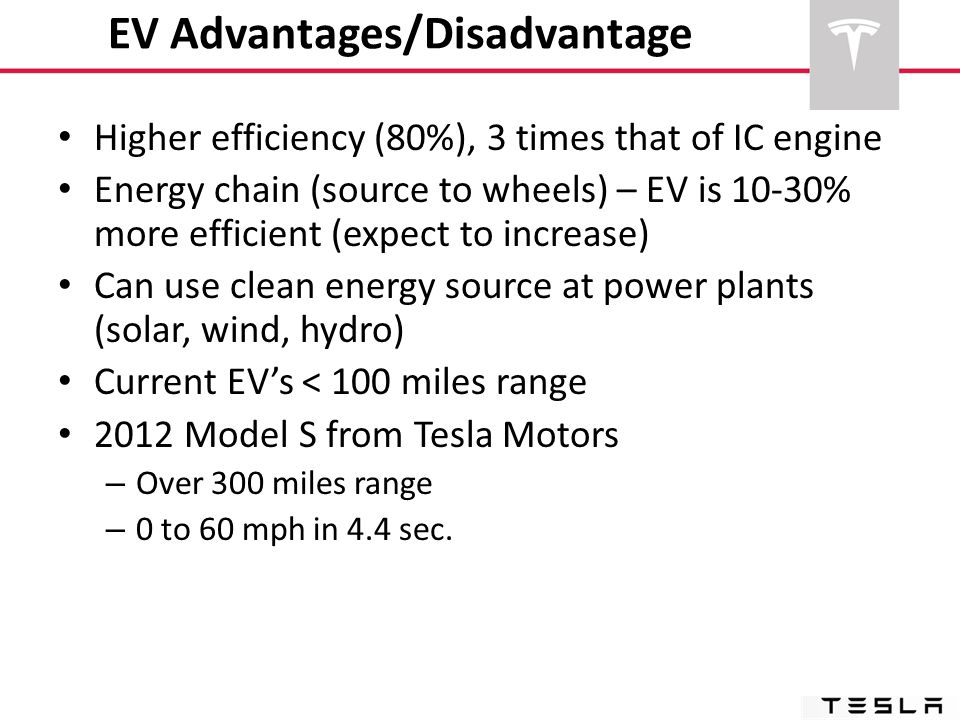 EV Advantages/Disadvantage