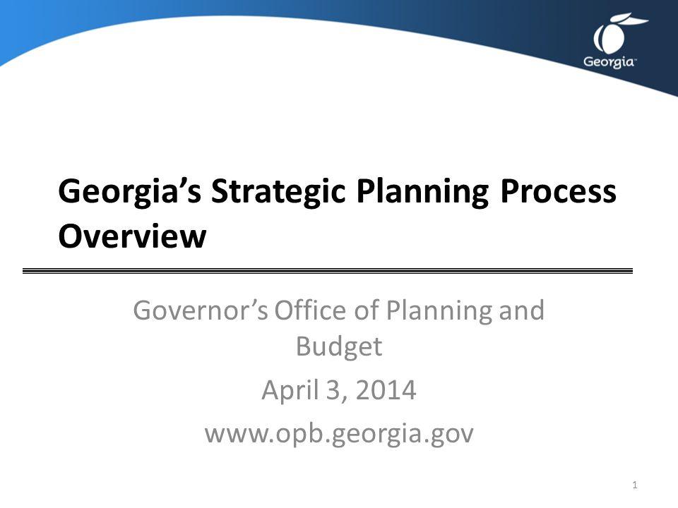 Georgia's Strategic Planning Process Overview