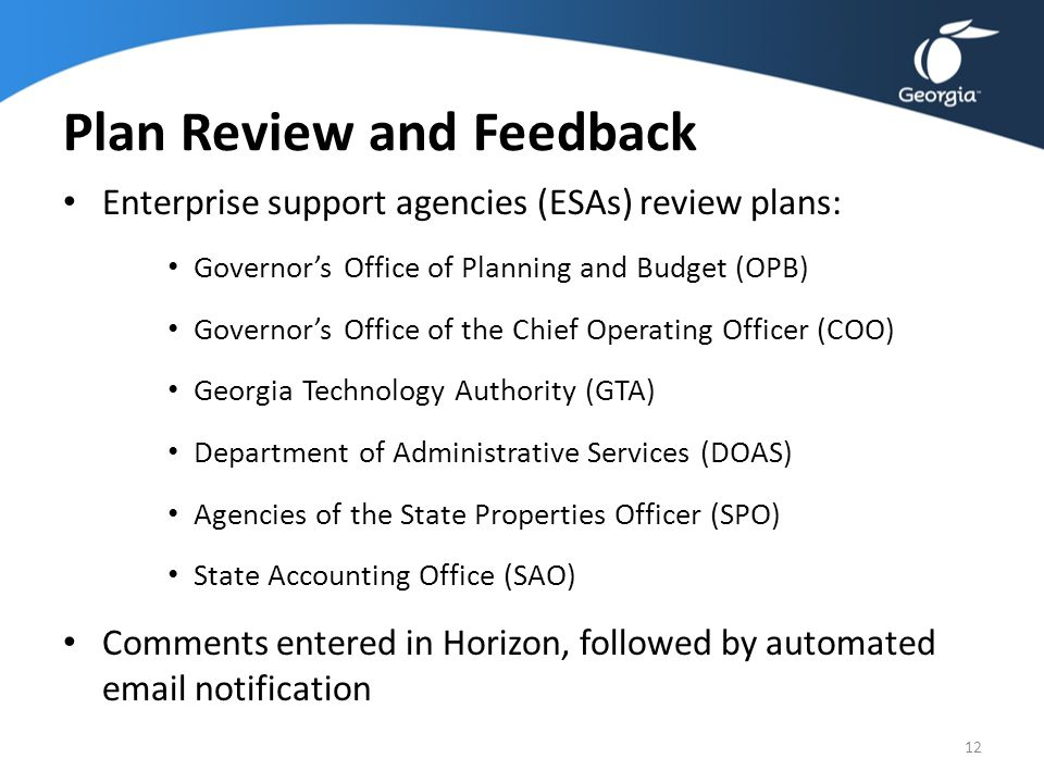 Georgia s strategic planning process overview ppt video - Chief operating officer qualifications ...