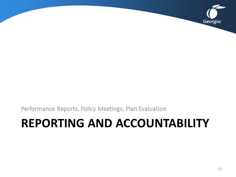 Reporting and Accountability