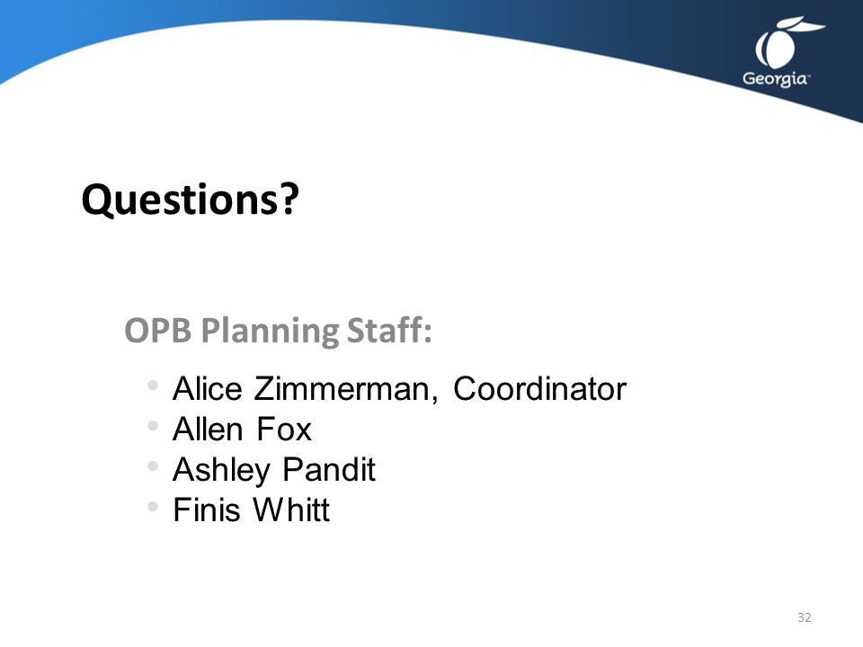 Agency Training: FY 2014 Strategic Planning OPB Planning Staff: