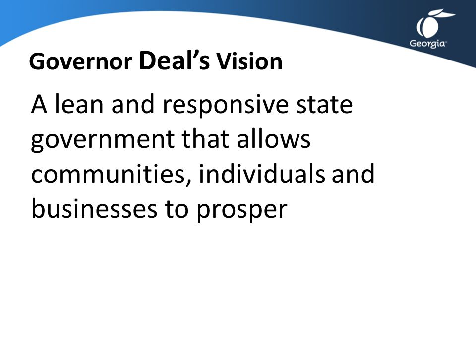 Governor Deal's Vision