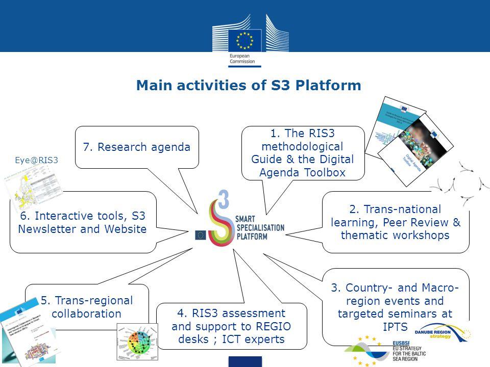 Main activities of S3 Platform