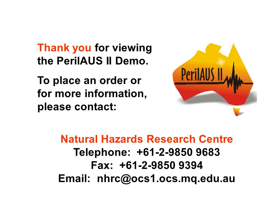 Natural Hazards Research Centre