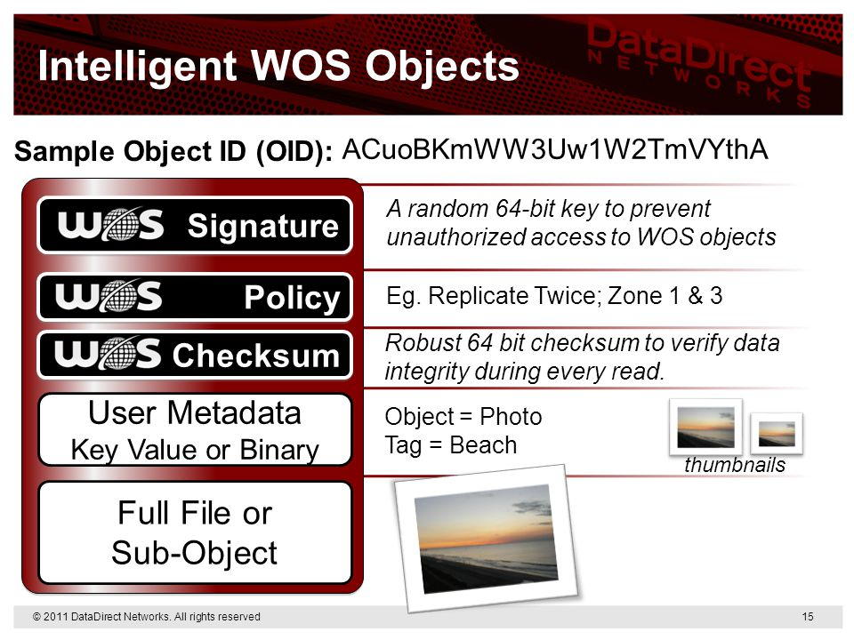Intelligent WOS Objects