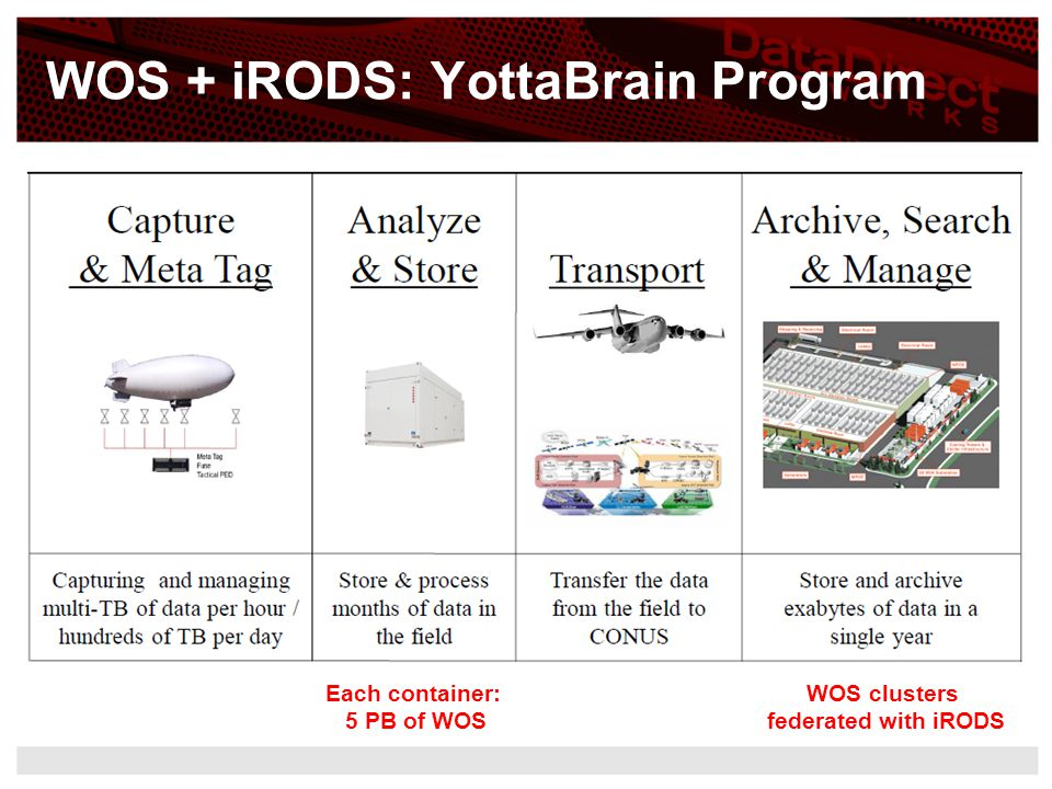 WOS + iRODS: YottaBrain Program
