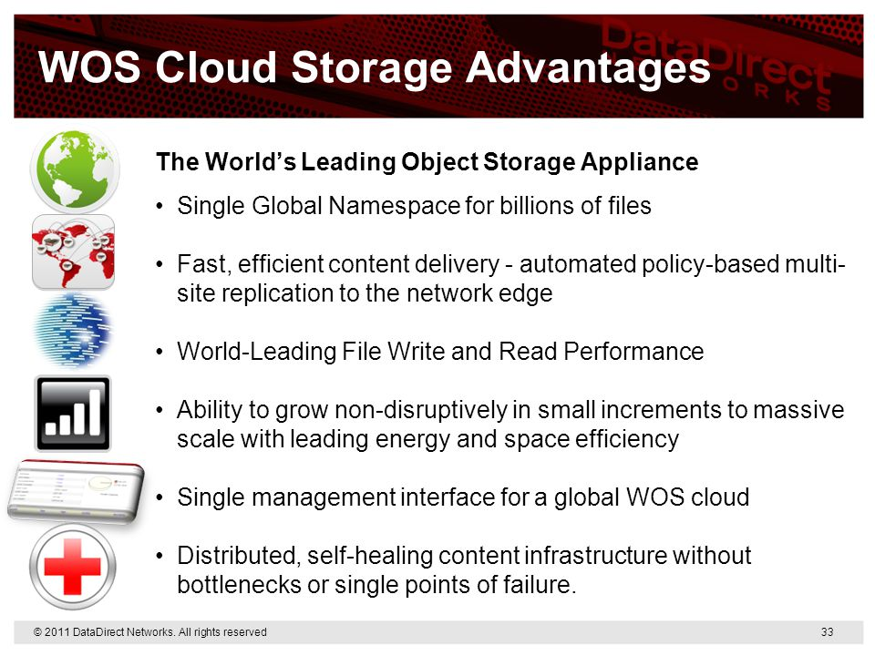WOS Cloud Storage Advantages