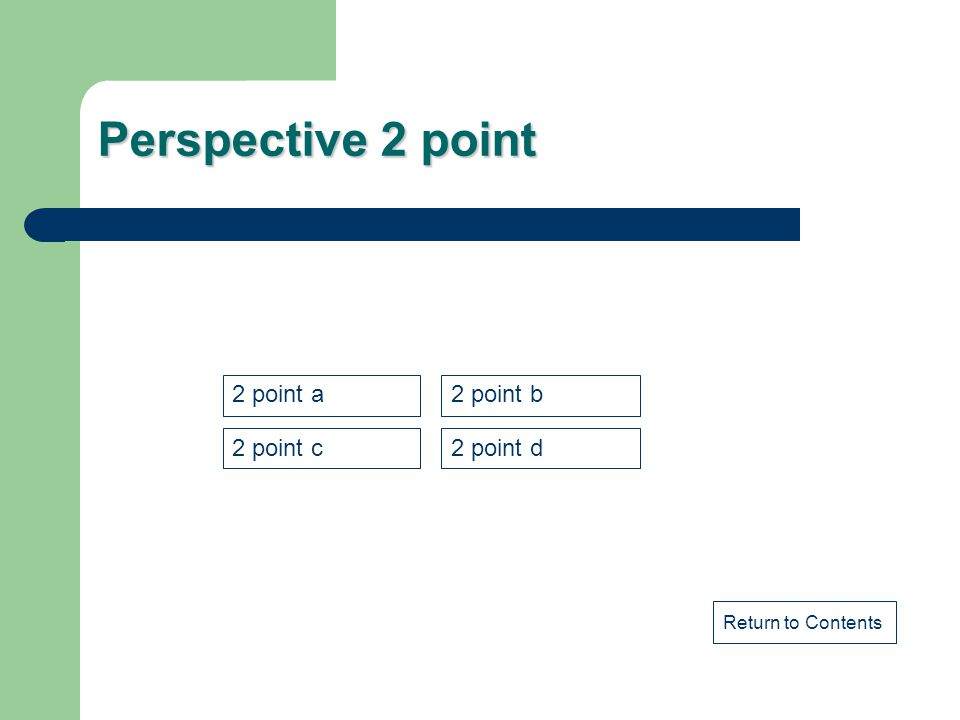 Perspective 2 point 2 point a 2 point b 2 point c 2 point d