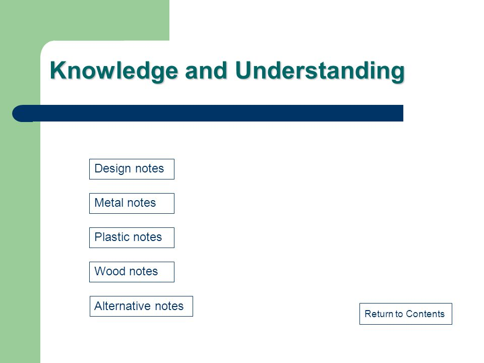 Knowledge and Understanding