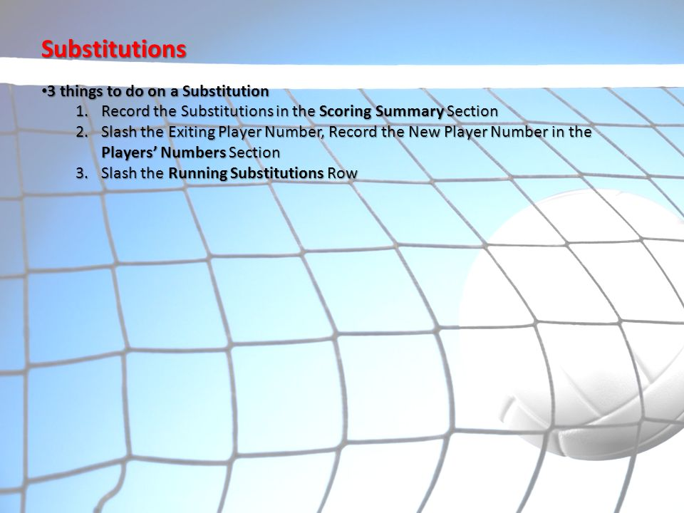 Substitutions 3 things to do on a Substitution