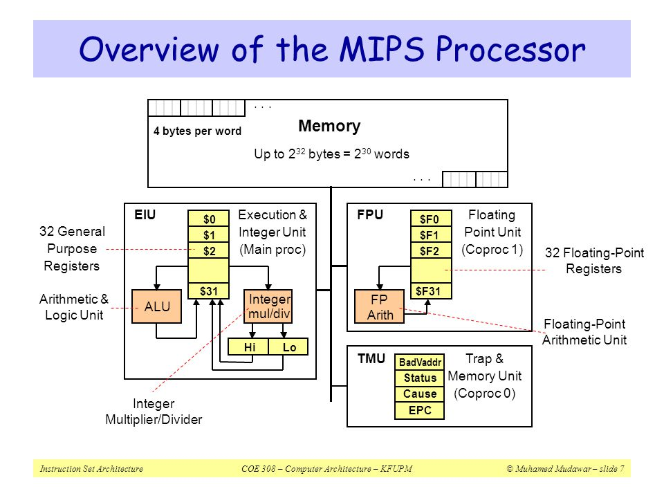 Overview of the MIPS Processor