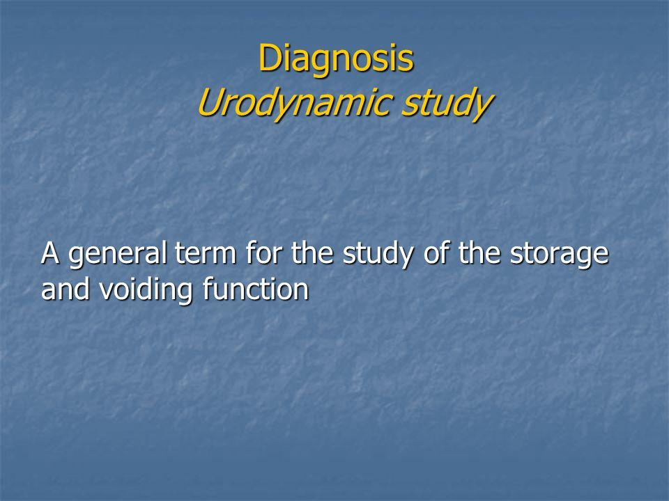 Diagnosis Urodynamic study