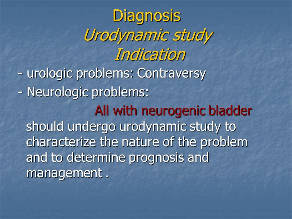 Diagnosis Urodynamic study Indication