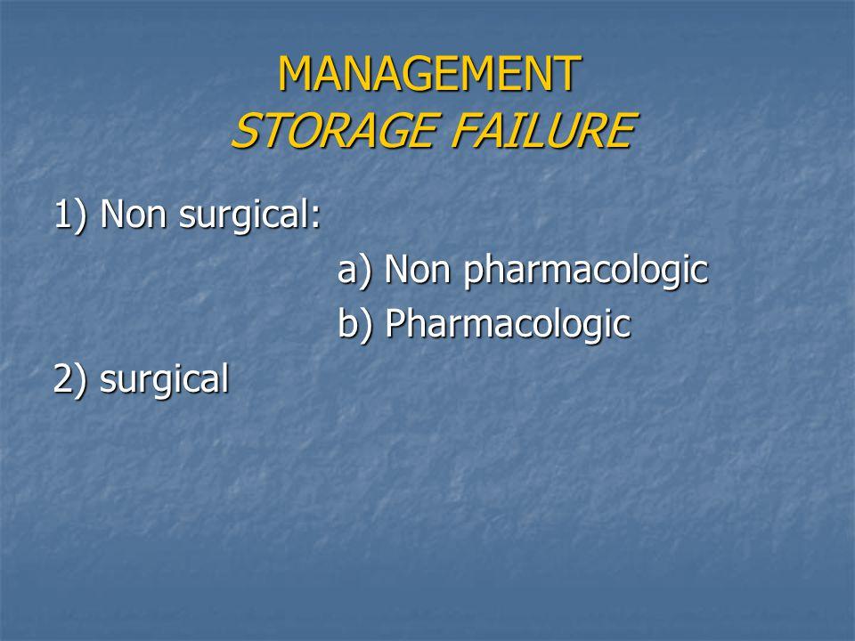MANAGEMENT STORAGE FAILURE