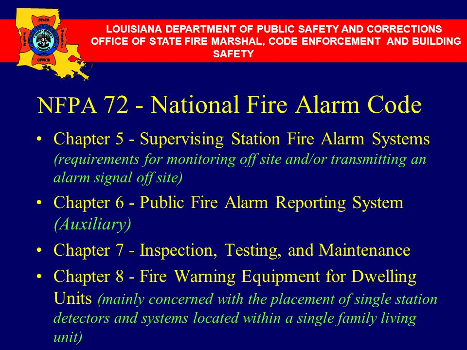 NFPA 72 - National Fire Alarm Code