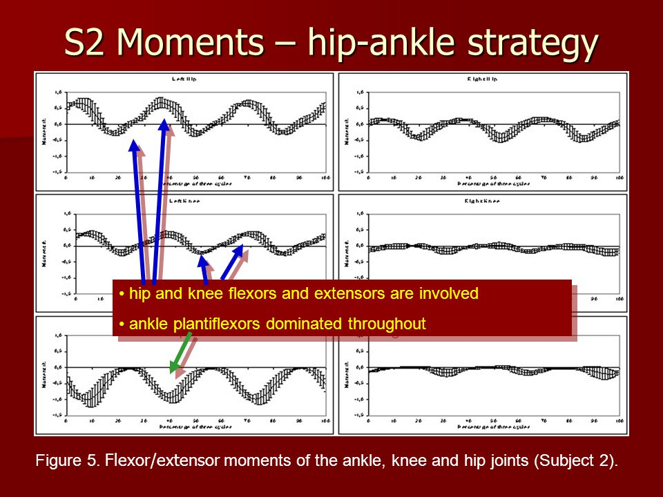 S2 Moments – hip-ankle strategy