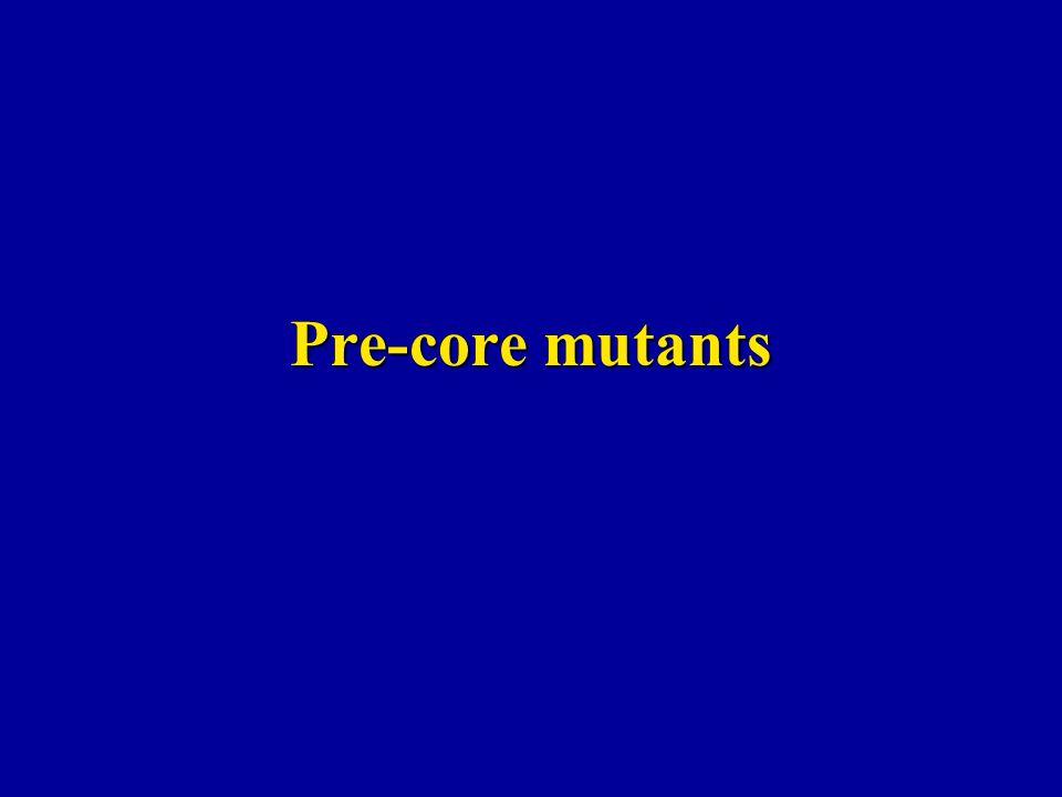 Pre-core mutants