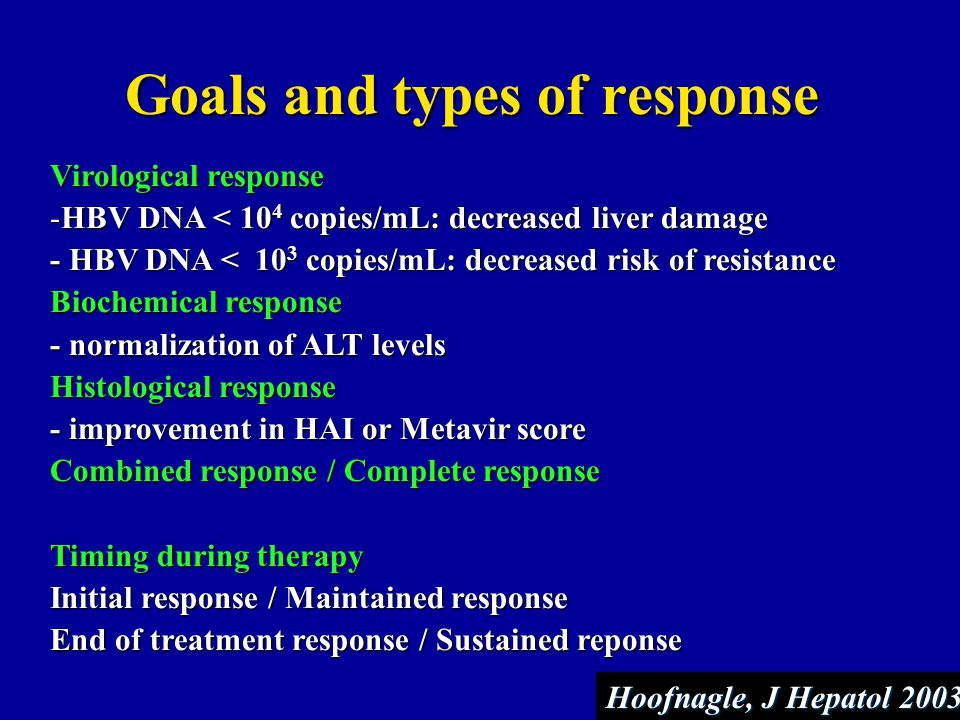 Goals and types of response