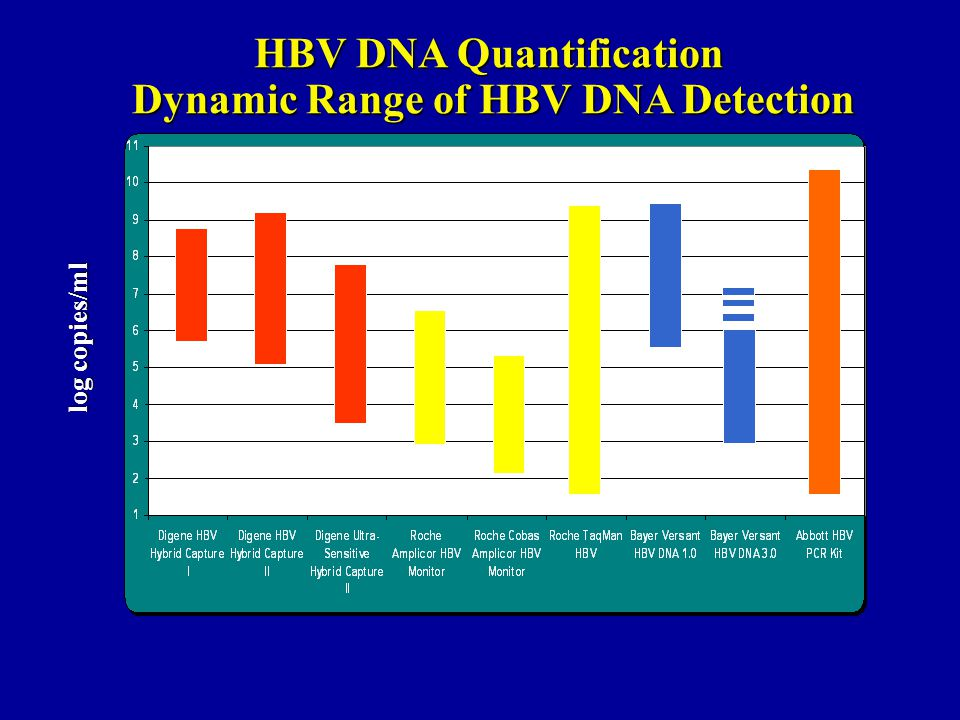 HBV DNA Quantification Dynamic Range of HBV DNA Detection