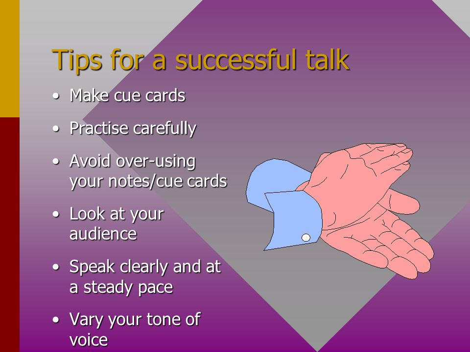 Tips for a successful talk