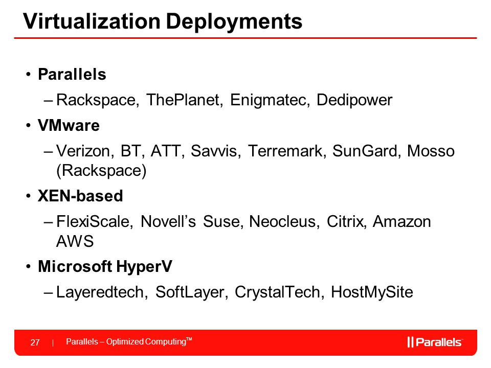 Virtualization Deployments