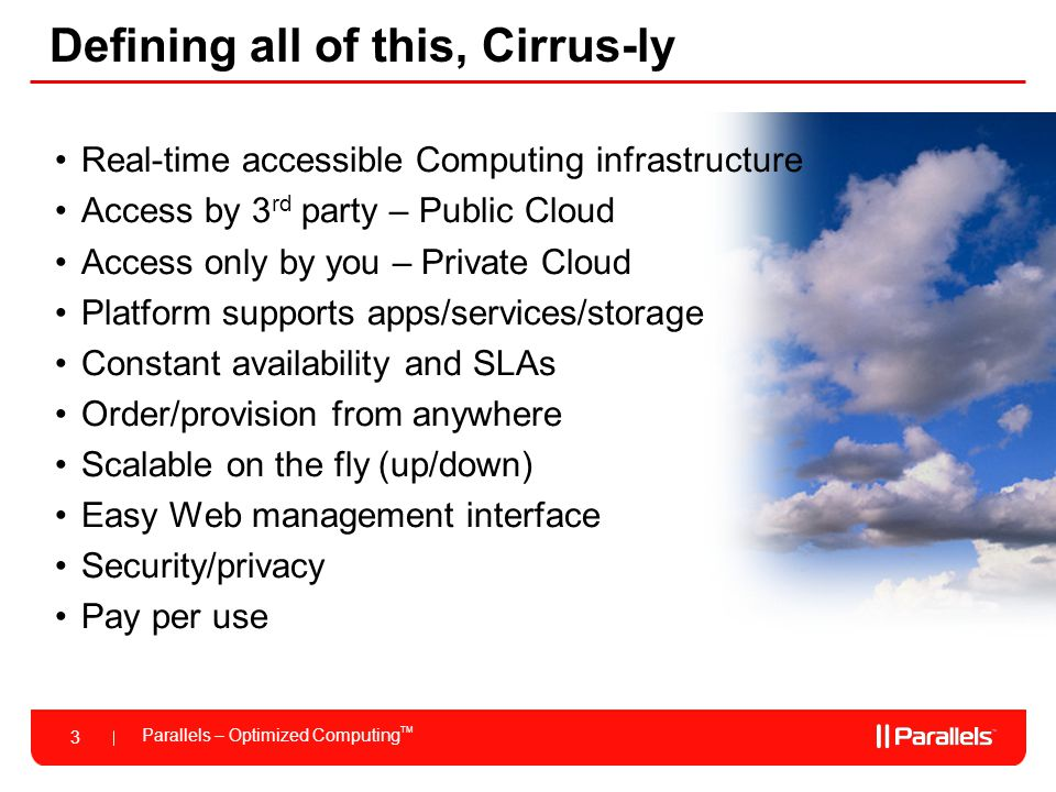 Defining all of this, Cirrus-ly