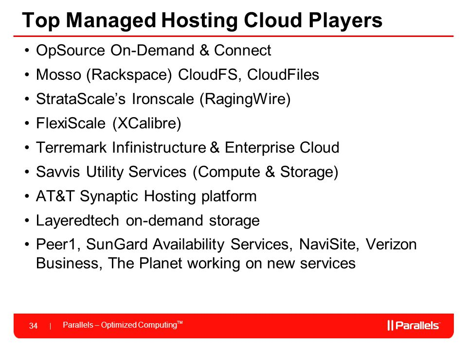 Top Managed Hosting Cloud Players