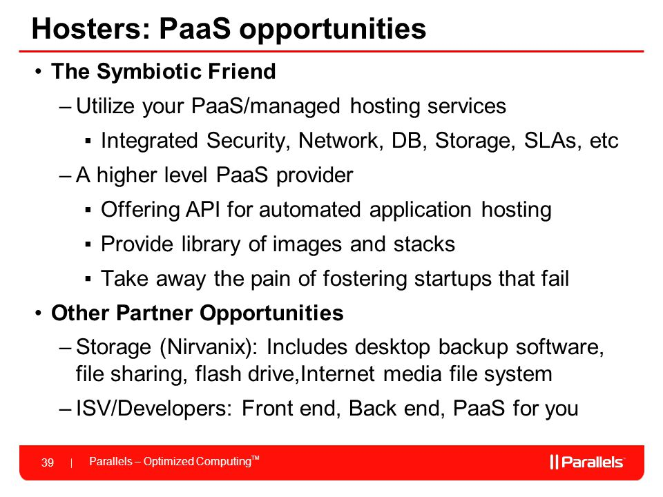 Hosters: PaaS opportunities