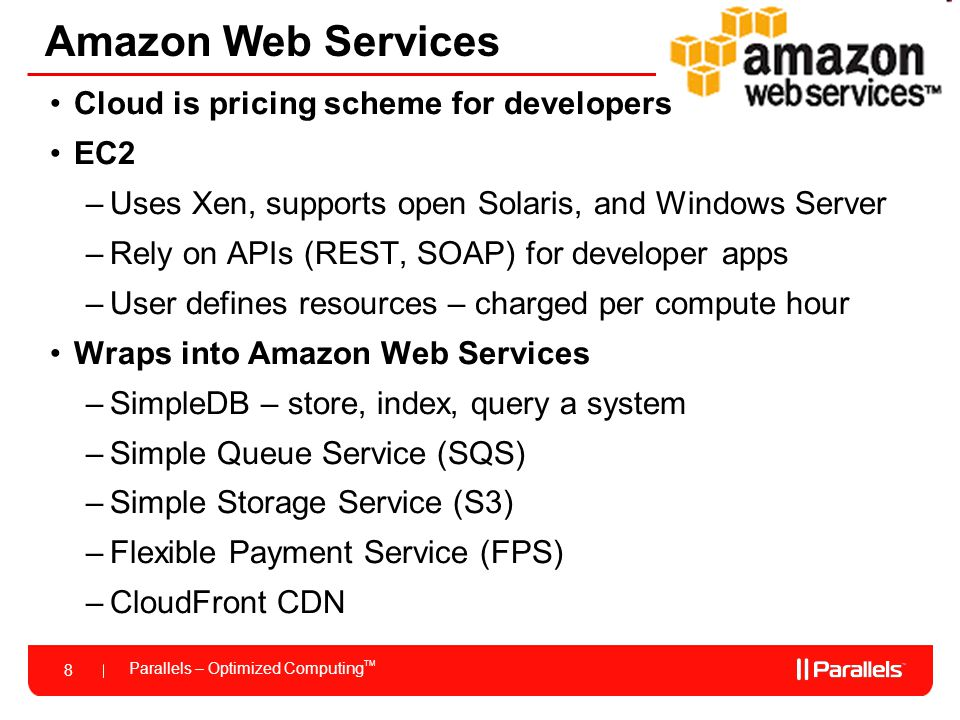 Amazon Web Services Cloud is pricing scheme for developers EC2