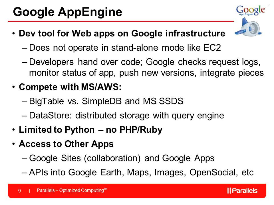 Google AppEngine Dev tool for Web apps on Google infrastructure