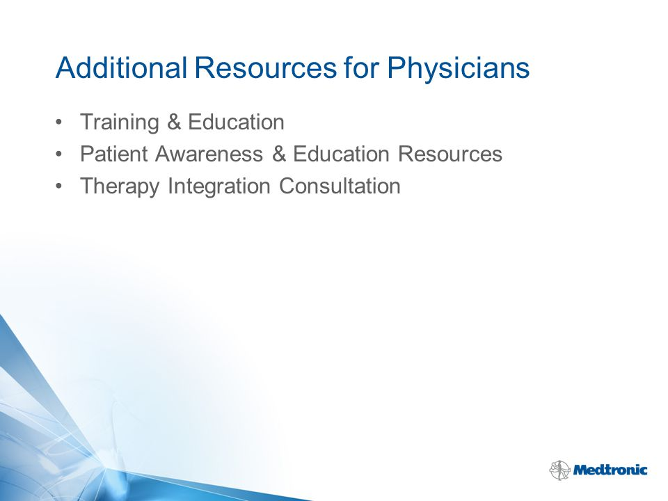 Additional Resources for Physicians