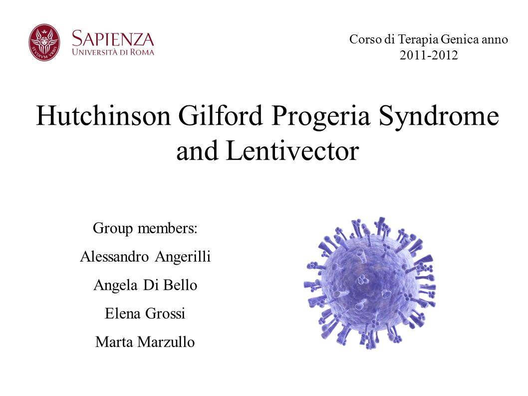 Hutchinson Gilford Progeria Syndrome and Lentivector