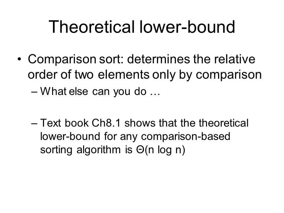 Theoretical lower-bound