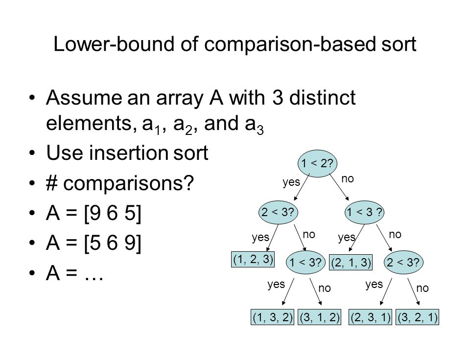 Lower-bound of comparison-based sort