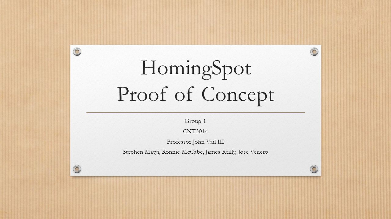 HomingSpot Proof of Concept