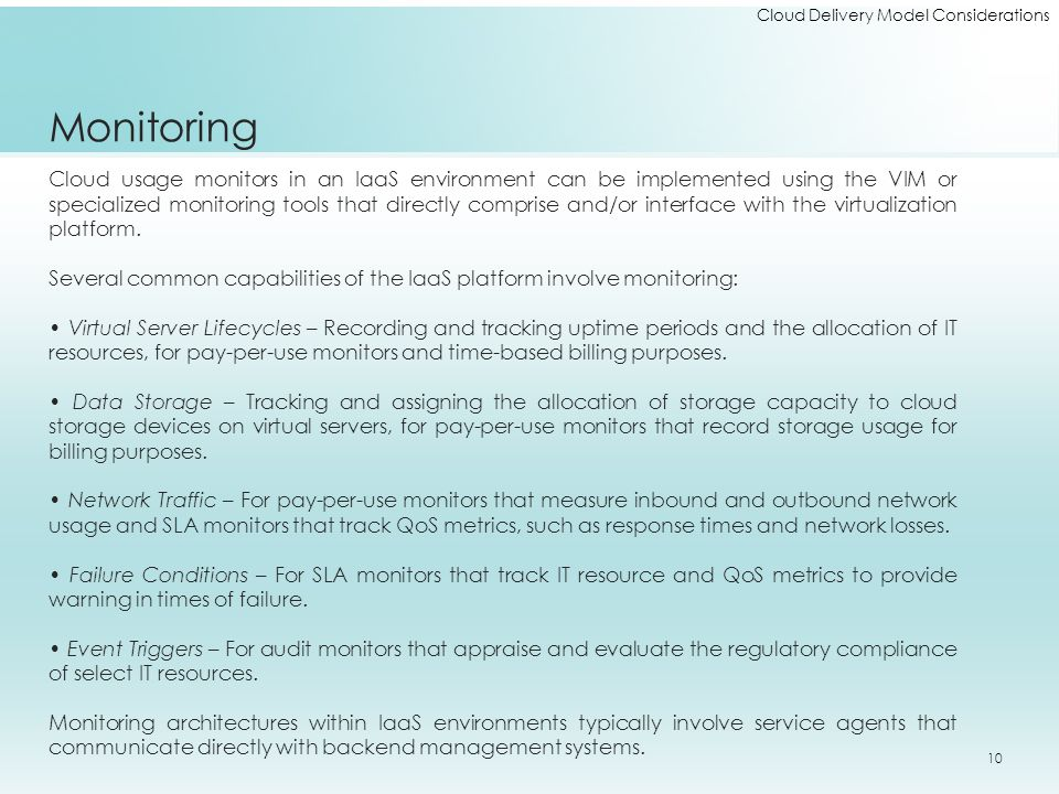 Cloud Delivery Model Considerations