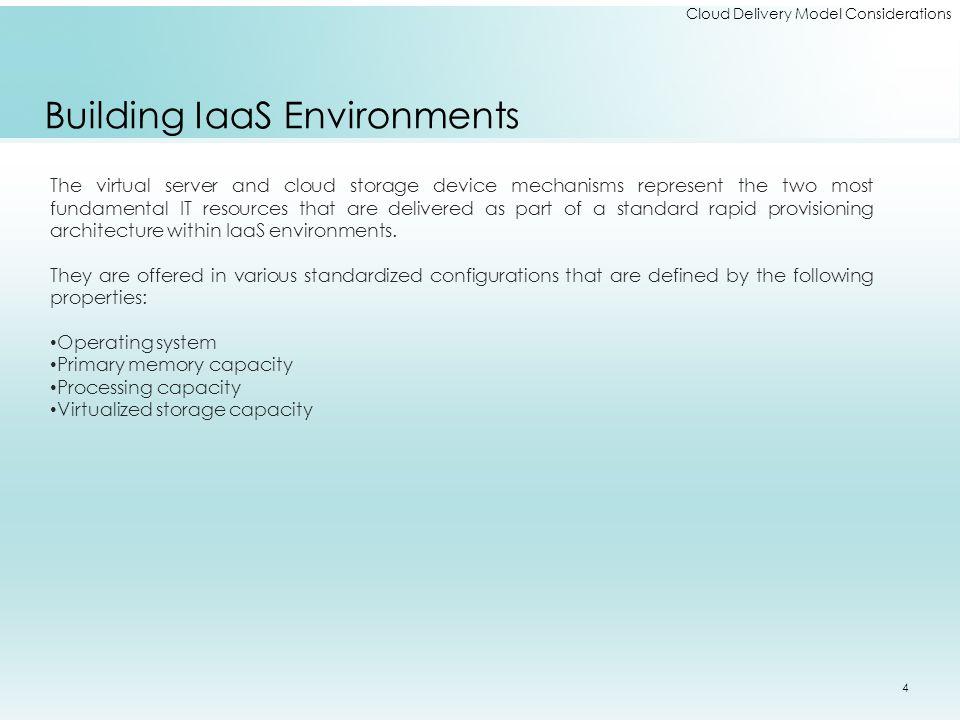 Building IaaS Environments