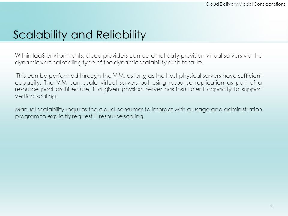 Scalability and Reliability