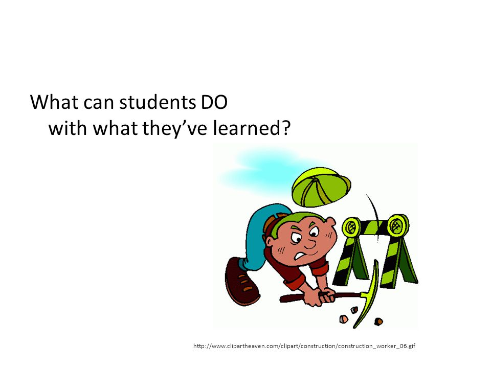 What can students DO with what they've learned