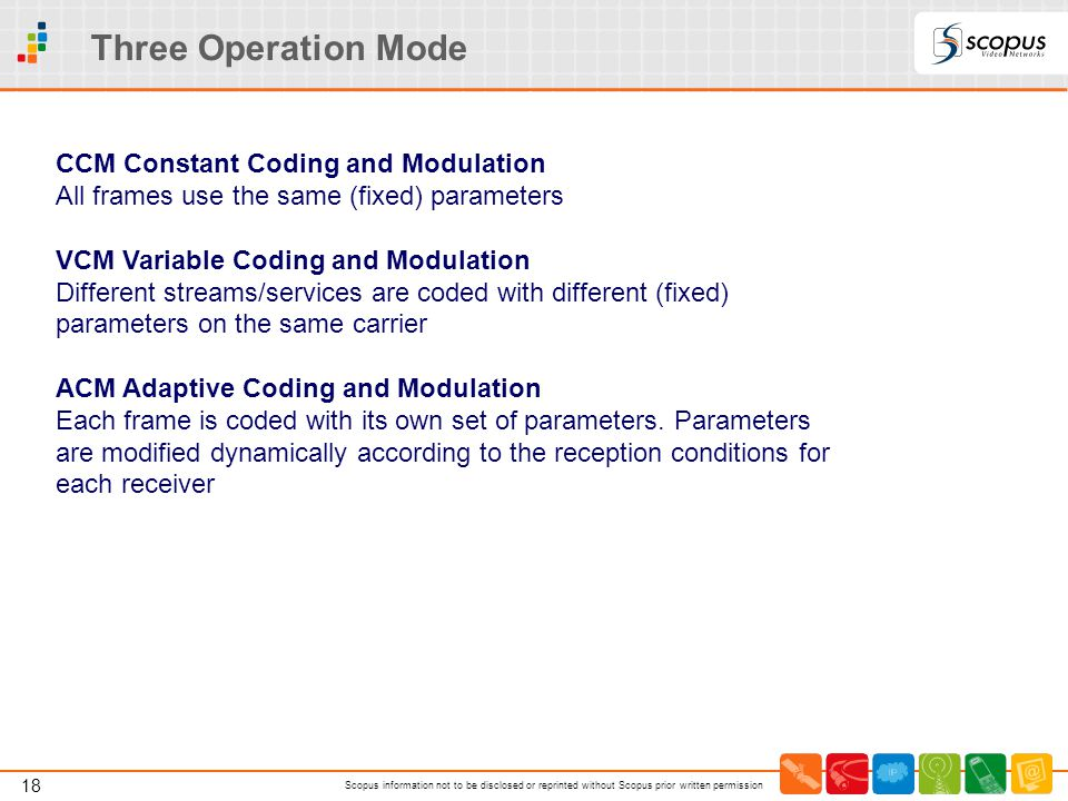 Three Operation Mode CCM Constant Coding and Modulation