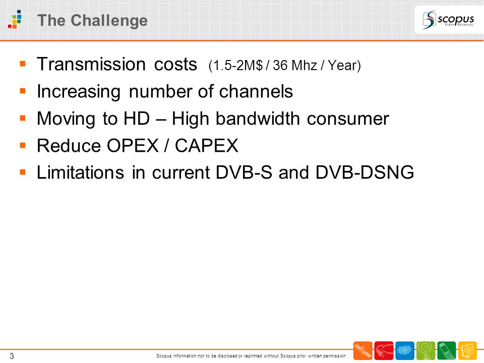 Transmission costs (1.5-2M$ / 36 Mhz / Year)
