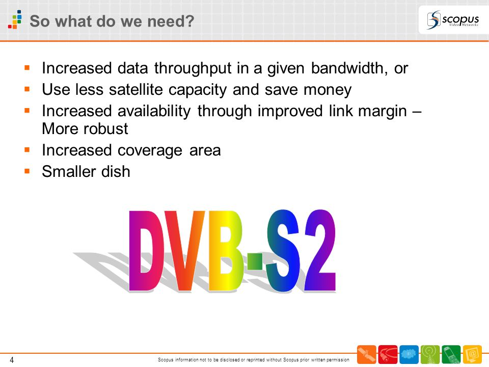 So what do we need Increased data throughput in a given bandwidth, or. Use less satellite capacity and save money.