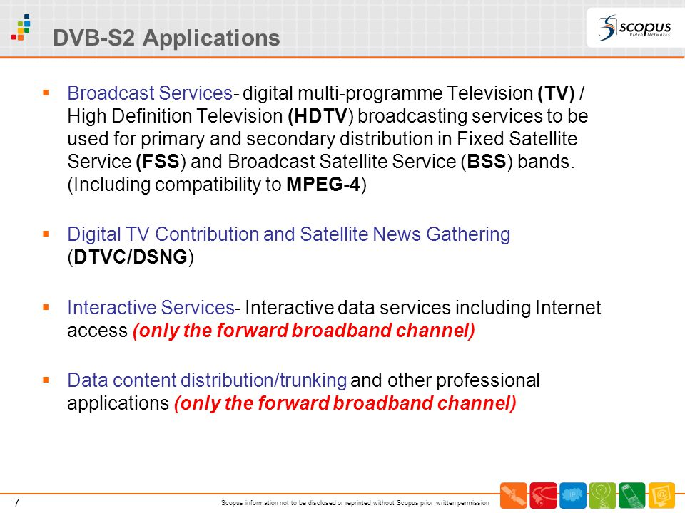 DVB-S2 Applications