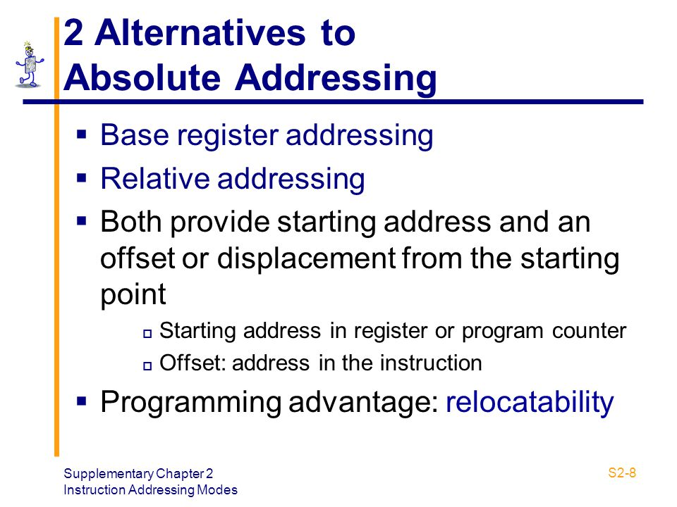 2 Alternatives to Absolute Addressing