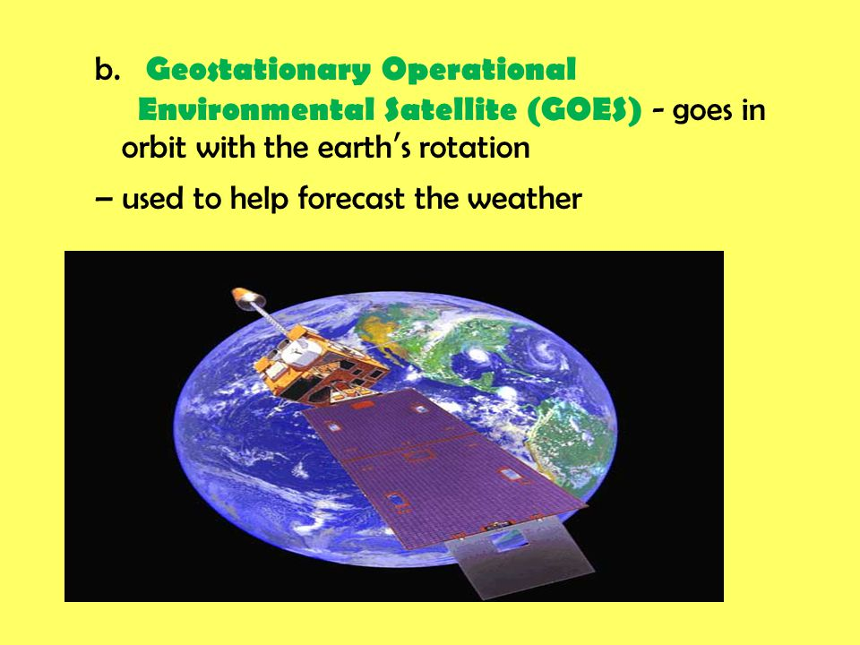 b. Geostationary Operational