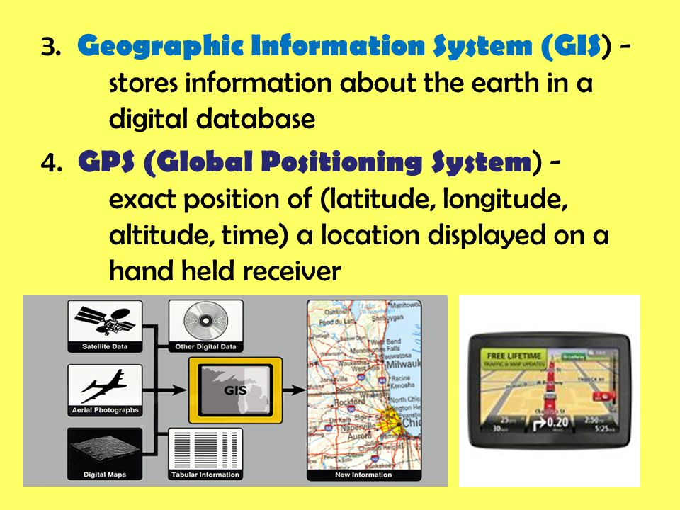 3. Geographic Information System (GIS) -