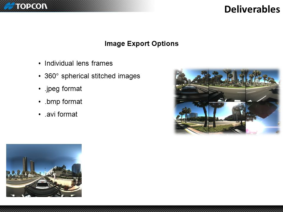 Deliverables Image Export Options Individual lens frames