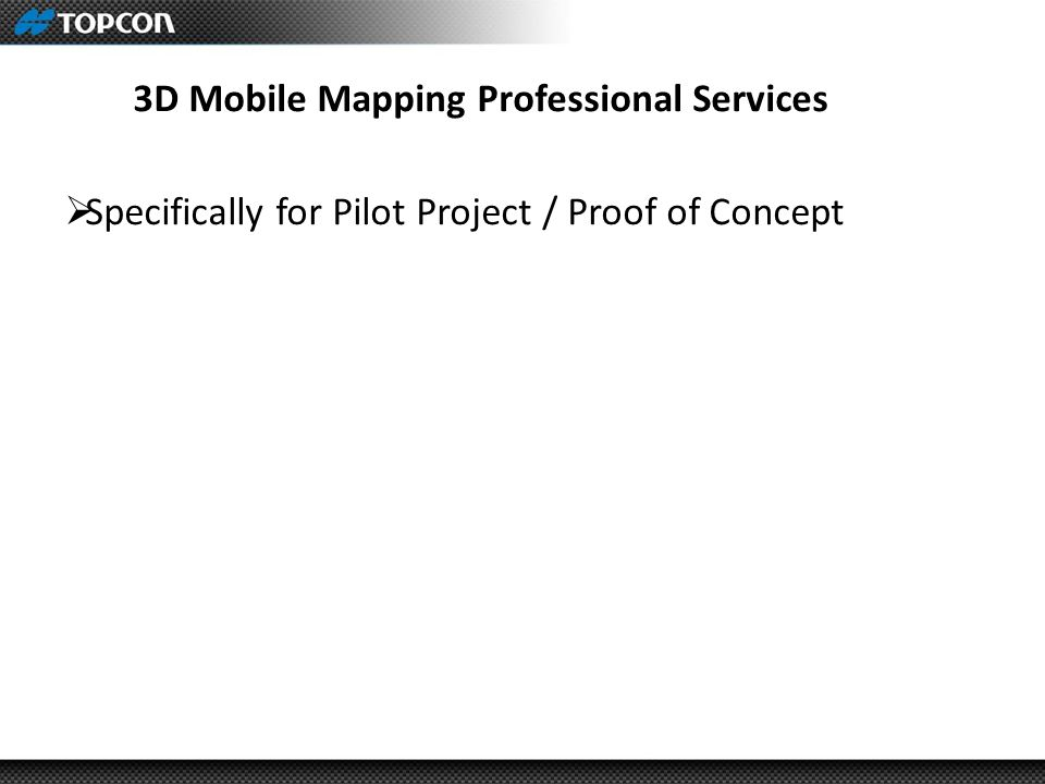 3D Mobile Mapping Professional Services