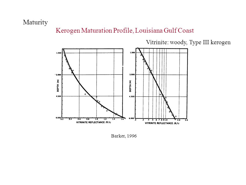 Kerogen Maturation Profile, Louisiana Gulf Coast